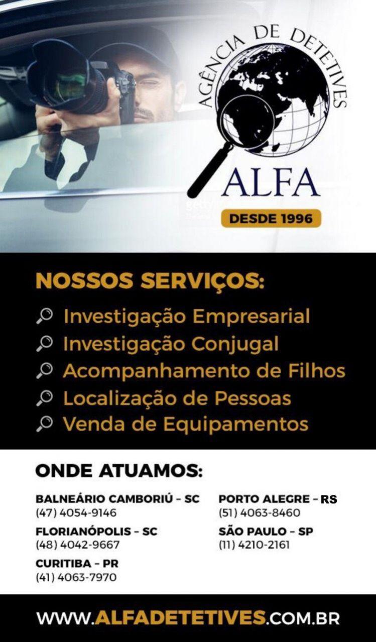 A dúvida te incomoda? alfa detetives florianópolis (48) 4042 9667