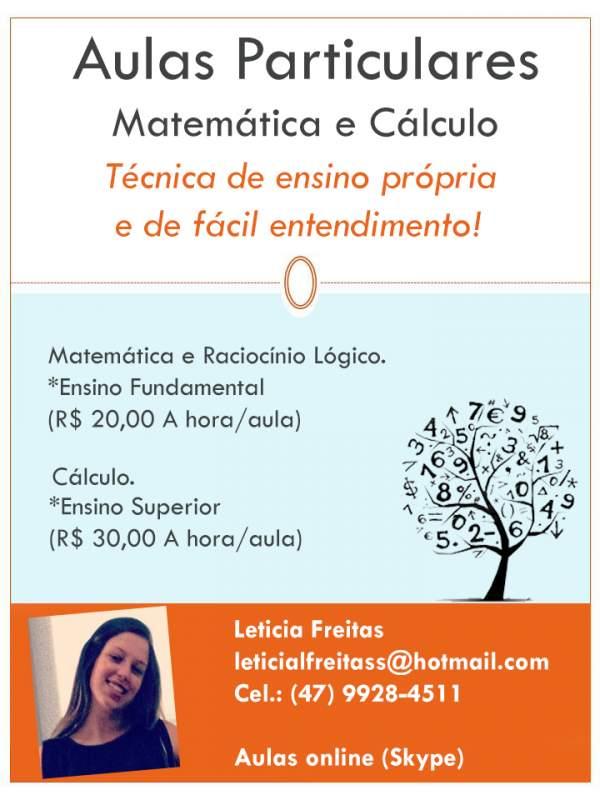 Aulas particulares de matemática e cálculo
