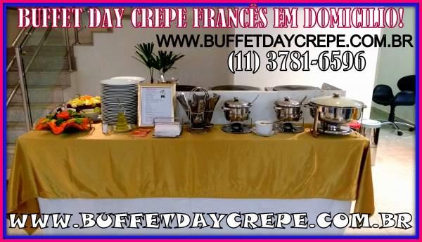 Buffet crepe francês em domicílio
