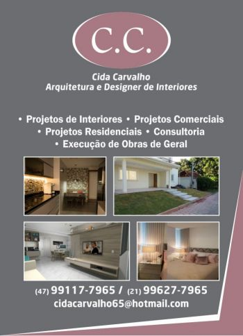 Cida carvalho arquitetura e design interiores. Guia de empresas e serviços