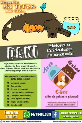 Dani - bióloga e cuidadora de animais. Guia de empresas e serviços