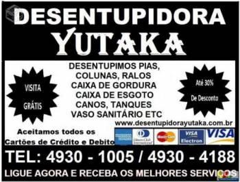 Desentupidora yutaka. Guia de empresas e serviços
