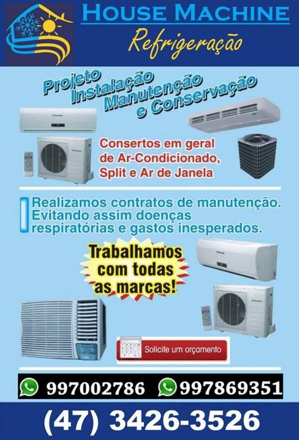 House machine refrigeração-  instalações split
