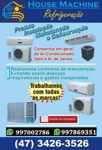 House machine refrigeração-  instalações split. Guia de empresas e serviços
