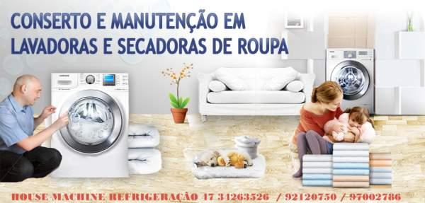 House machine refrigeração - manutenção secadoras e lavadora