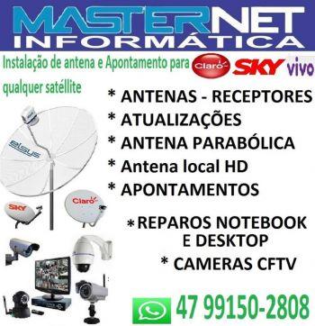 Masternet informatica e antenas. Guia de empresas e serviços