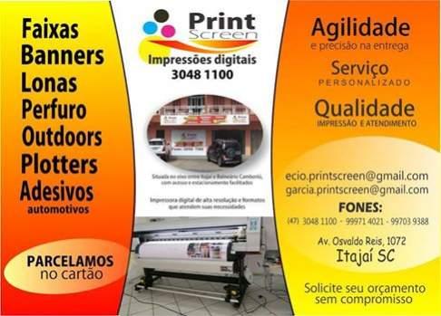 Print screen impressões digitais ltda