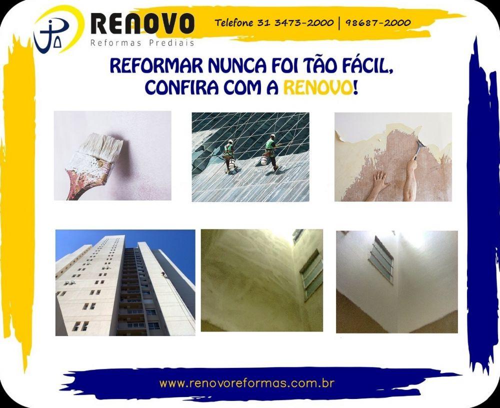 Renovo reformas prediais em condomínios e empresas em belo horioznte