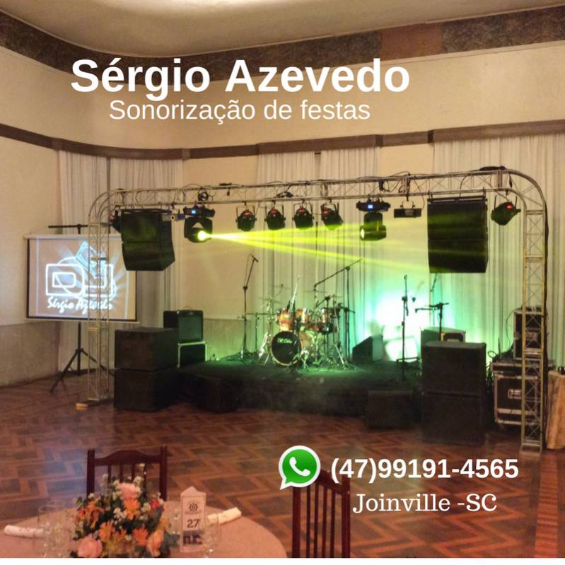 Sérgio azevedo sonorização de festas joinville-sc