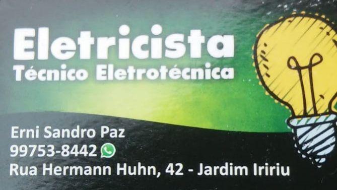 Serviços de eletricista erni paz