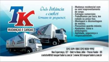 Tk transportes. Guia de empresas e serviços