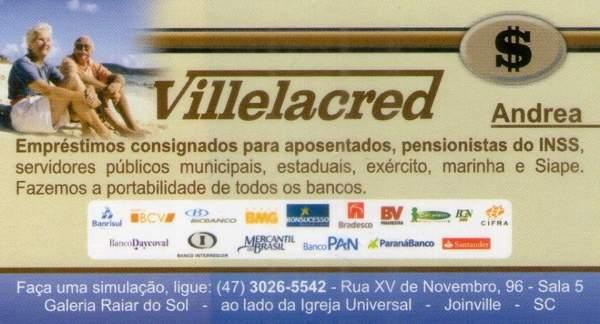 Villelacred empréstimos para aposentados e pensionistas